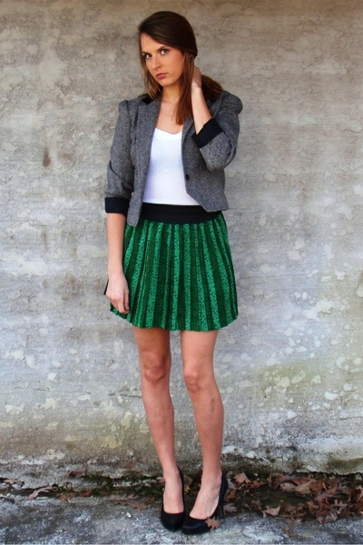 gray Mind Over Matter by Stephanie Geisler jacket - black Jessica Simpson shoes