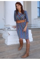 vintage from Mind Over Matter by Stephanie Geisler dress - Anthropologie belt -