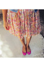 Bubble-gum-comfy-steve-madden-flats-peach-lauren-conrad-dress