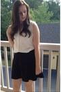 Silk-banana-republic-blouse-forever-21-skirt