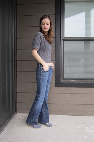 Navy Secondhand 7 For All Mankind Jeans, Heather Gray Secondhand ...