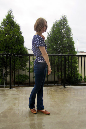 Urban Outfitters shirt - vintage shoes - Gap jeans