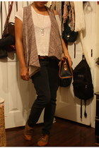shoes - thrift bag - stussy sale vest - sears pants - forever 21 blouse - salon