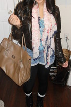 boots - Target jacket - Forever 21 leggings - H&M scarf - H&M bag - Forever 21 b