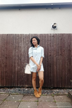 Timberland boots - Primark dress - coach bag