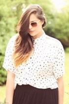 Silence & Noise blouse - Topshop sunglasses - maxi H&M skirt