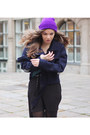 Purple-wool-ebay-hat-black-creeprs-underground-shoes-black-sheer-monki-dress
