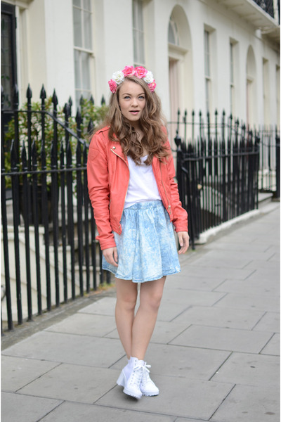 bubble gum flower crown Primark hair accessory - white linen Topshop shoes