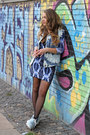 Blue-bodycon-h-m-dress-sky-blue-bleached-diy-vest