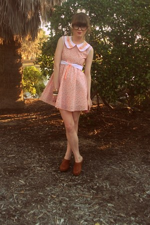 Hobbs clogs - thrifted dress