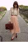 romwe blouse - Tempt skirt - Bally loafers