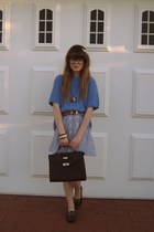 thrifted bag - Valleygirl skirt - thrifted jumper - thrifted loafers