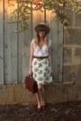 Dotti-hat-bally-loafers-vintage-belt-littlegracie-skirt