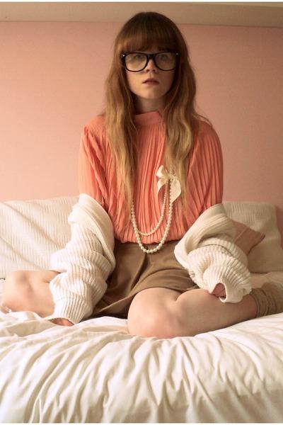 romwe dress - Dotti skirt - thrifted cardigan