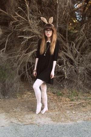 asos dress - Forever New tights - lace ears Dotti accessories