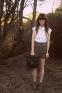 Brown-thrifted-shorts-white-sportsgirl-blouse-brown-asos-shoes-black-thrif