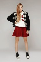 black storets jacket - white storets sweater - storets socks