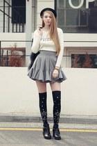 storets hat - storets boots - storets jacket - black storets socks