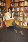 Cream-urban-outfitters-sweater-mustard-gap-skirt-dark-gray-forever-21-tights
