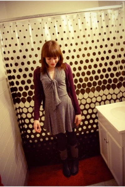 To The Max dress - Lux sweater - free people coat - HUE tights - banana republic
