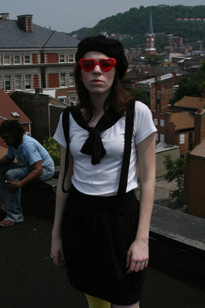 Sechuna shirt - Dodostyle skirt - sunglasses - American Apparel tights