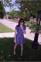 Silence & Noise dress - Frye shoes - Jeffrey Campbell necklace - Ralph Lauren su