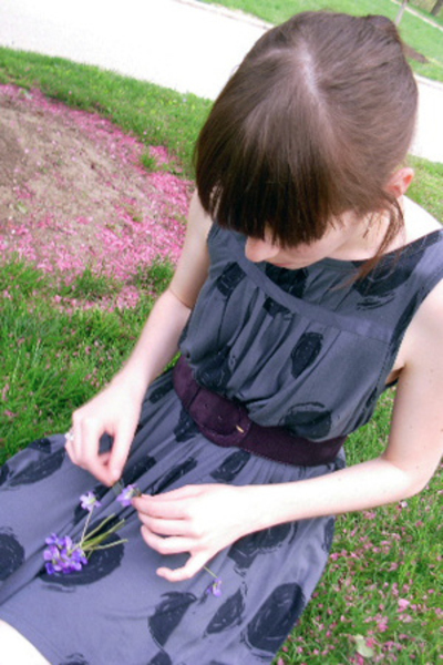 Old Navy dress - Laura Ashley belt - Repetto