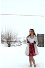 White-delias-coat-white-forever-21-top-red-forever-21-skirt-red-mossimo-sh
