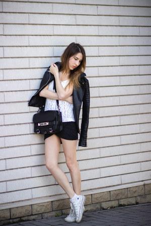 Zara jacket - PROENZA SCHOULER bag - Zara skirt - Converse sneakers