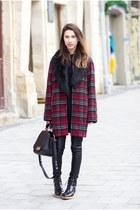 Zara boots - South coat - Zac Posen bag - Zara pants