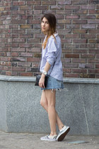 Zara bag - Vans shoes - Zara bracelet - Denim Co skirt - Michael Kors watch