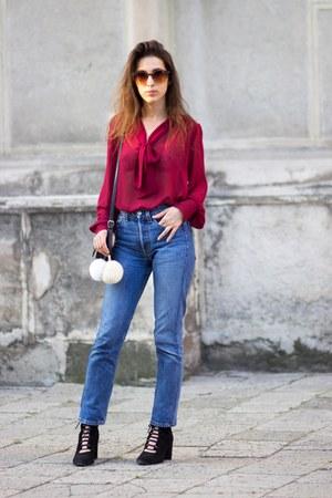 Evie blouse - H&M boots - Levis jeans - Zara bag