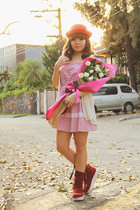 red sm accessories hat - ruby red AsianVogue boots - pink Petit Monde dress
