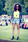 Yellow-bik-bok-shirt-navy-cubus-shorts-blue-kimono-river-island-cape