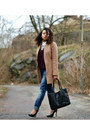 Bronze-h-m-coat-navy-gina-tricot-jeans-black-nelly-heels