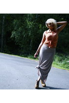Nellycom wedges - GINA TRICOT shirt - Zara skirt