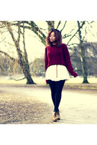 white Missguided dress - brick red GINA TRICOT jumper