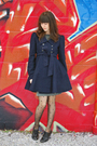 Blue-forever21-coat-gray-dress-black-tights-black-shoes