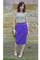 vintage skirt - Wetseal shirt -  shoes - necklace - Wetseal bracelet