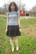 dress - blouse - tights - shoes