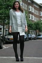 mint H&M Trend blazer - H&M Trend skirt - Mango top - Ebay heels