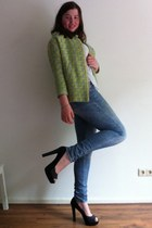 neon H&M Trend jacket - old H&M jeans - Ebay pumps