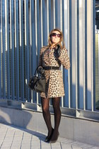 black liz claiborne purse - camel Zara coat - black Bijou Brigitte sunglasses