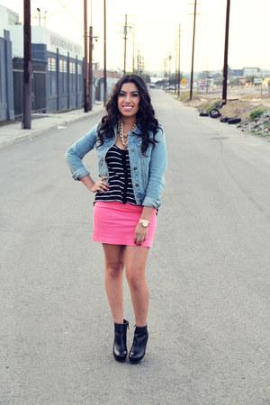boots - jacket - shirt - skirt
