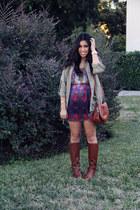 BP boots - dress - jacket - purse