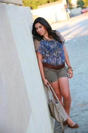 H&M bag - Forever 21 shirt - charlotte rousse shorts