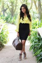 Sarine Marie shirt - Louis Vuitton purse - heels