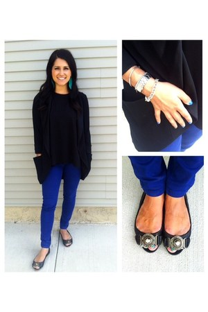 blue Gap jeans - black ballerinas Burberry shoes - black wilfred blazer