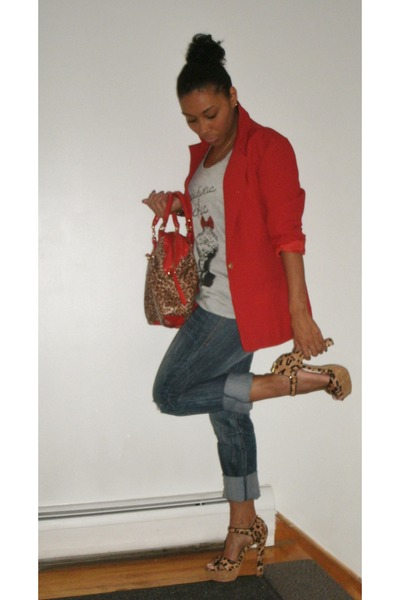 Chic Blue Jeans Blue Jeans Red Vintage