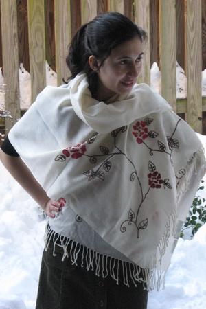 white unknown brand scarf - gray unknown brand skirt